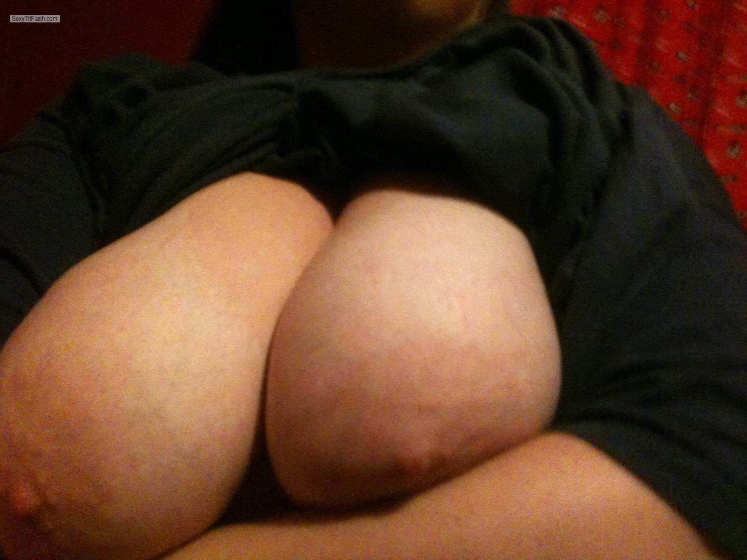 Tit Flash: My Big Tits By IPhone (Selfie) - B from United States